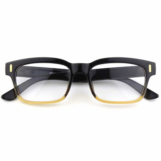 CGID CN84 Casual Fashion Horned Rim Rectangular Bold Thick Frame Clear Lens Eye Glasses