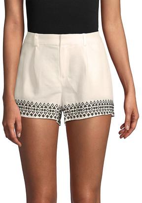 Parker Embroidered Linen-Blend Short