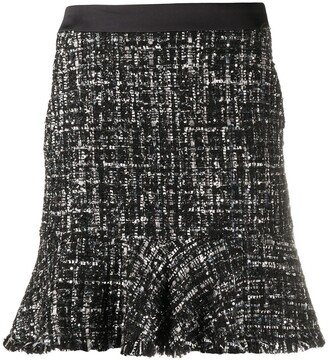 Karl Lagerfeld Paris Boucle Sparkle Skirt