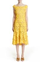 Naeem Khan Women's Flutter Hem Lace Dress
