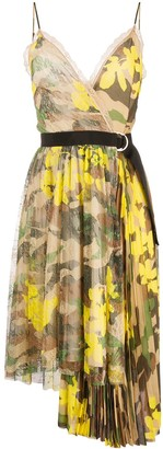 Ermanno Ermanno Camouflage Print Asymmetric Dress
