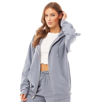 Fluid Womens Cotton / Recycled Polyester Zip Through Hoodie