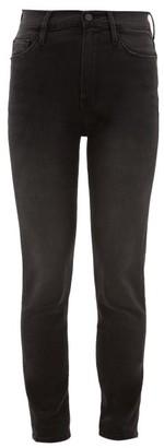 Frame Ali High-rise Skinny Jeans - Womens - Dark Grey