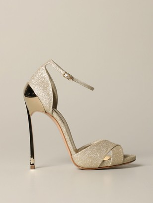 Casadei High Heel Shoes Tecno Blade Glitter Sandal