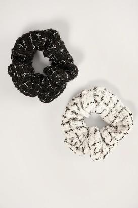 NA-KD 2-pack Tweed Scrunchies