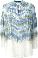 Raquel Allegra tie-dye peasant blouse - women - Silk - 1