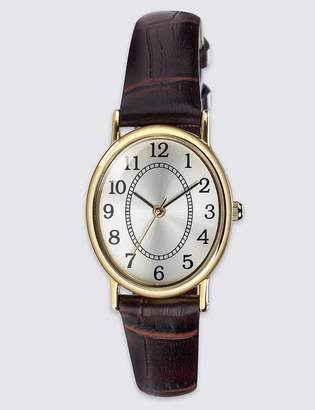 M&S CollectionMarks and Spencer Oval Face Classic Strap Watch