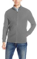 Perry Ellis Men's Classic Full Zip Texture Knit Jacket