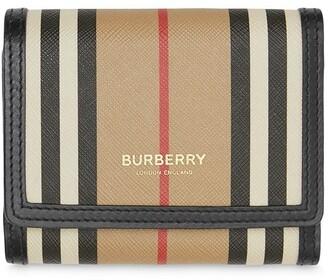 Burberry small Icon stripe E-canvas folding wallet