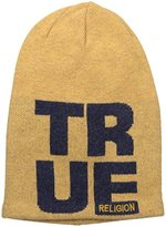 True Religion Men's Slouchy Beaniw W Knit-In-Letters