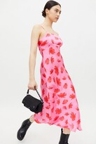 Thumbnail for your product : Glamorous Floral Tie-Back Midi Slip Dress