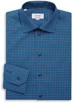 Eton Men's Contemporary Fit Checked Cotton Dress Shirt