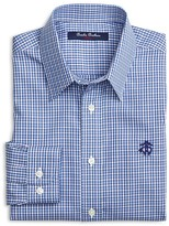 Brooks Brothers Boys' Non Iron Mini Check Shirt - Big Kid