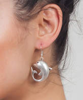 Yu & Shi Women's Earrings ANTIQUE - Silvertone Dolphin Drop Earrings