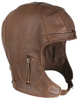 Rothco Brown Leather Aviator Pilot Helmet Cap