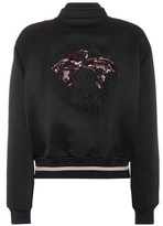 Versace Sequin-embellished bomber jacket