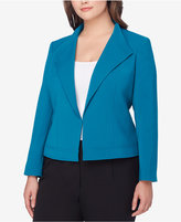 Tahari ASL Plus Size Wing-Collar Seamed Jacket