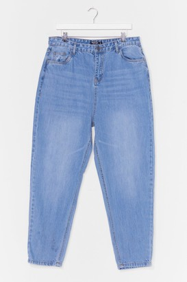 Nasty Gal Womens We'll Ask Mom High-Waisted Jeans - Stonewash