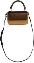 Brunello Cucinelli Leather and Raffia Mini Flap Crossbody Bag