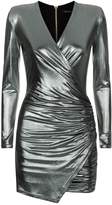 Balmain Metallic Bodycon Mini Dress
