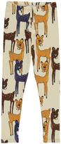 Mini Rodini Organic Cotton Brown Fawn Leggings