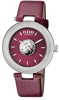 Versus By Versace Women's 'Bricklane' Quartz Stainless Steel and Leather Casual Watch, Color:Red (Model: S21040016)