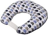Bacati Elephants Blue/Grey Nursing Pillow