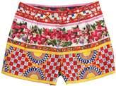 Dolce & Gabbana Mambo Print Cotton Poplin Shorts