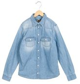 Bonpoint Girls' Denim Button-Up Top