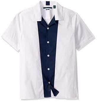 Perry Ellis Men's Color Block Stretch Short Sleeve Shirt