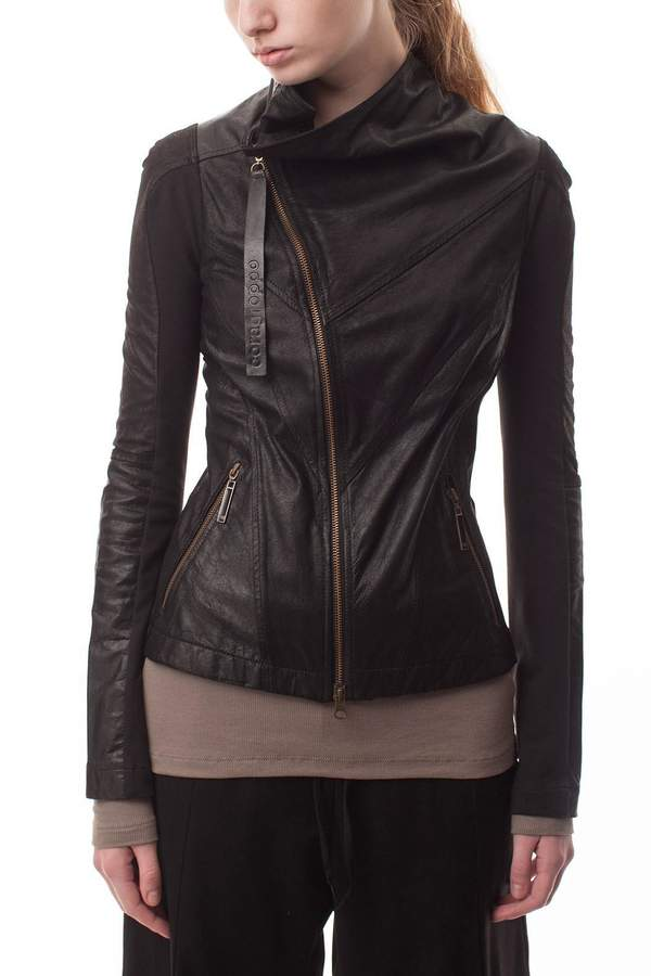 Cora Groppo coragroppo Black Leather Jacket