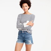 J.Crew High-rise distressed denim short