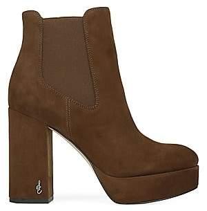 Sam Edelman Women's Abella Suede Platform Ankle Boots