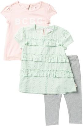 BCBGirls Tee & Pants 3-Piece Set (Toddler Girls)