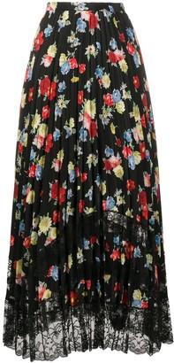 Ermanno Scervino Floral Print Midi Skirt