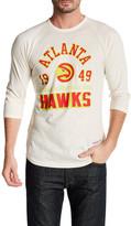 Mitchell & Ness NBA Hawks Raglan Blank Tailored Fit Shirt