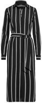 Thumbnail for your product : Lauren Ralph Lauren Ralph Lauren Striped Belted Crepe Shirtdress