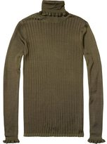 Scotch & Soda Ruffled Turtle Neck