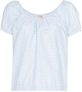 Eve Denim Camille gingham blouse