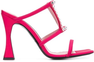 Les Petits Joueurs Hoya embellished heeled sandals