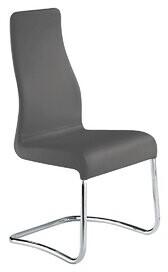 Orren Ellis Blalock Leather Upholstered Side Chair (Set of 2 Upholstery Color: Gray