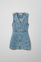 Weekday Day Denim Dress Pen Blue - Blue