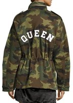 Alice + Olivia Russo Oversized Camouflage Cotton Parka