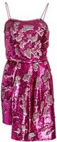 Derek Lam 10 Crosby Lani Reversible Sequin Draped Dress