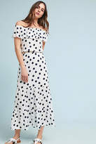 Three Dots Polka Dot Off-The-Shoulder Petite Dress
