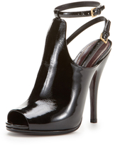 Gucci Jade Ankle Strap Peep-Toe Bootie