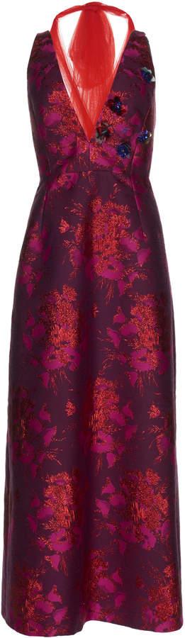 DELPOZO Embroidery Jacquard Dress