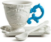 Seletti I-Wares Porcelain Coffee Set - Light Blue