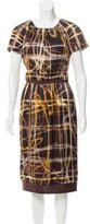 Peter Som Abstract Print Silk Dress