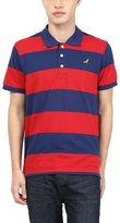 American Crew Men's Premium Pique Stripes Polo T-Shirt- L (AC256-L)